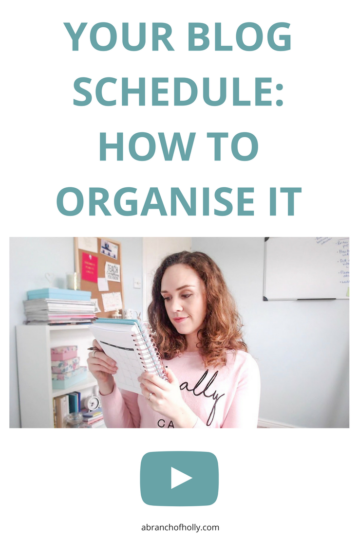 your blog schedule: how to organise it by A Branch of Holly - Here are the things I've tried and recommended you do to get ahead with your blog schedule and get one step closer to your next breakthrough!