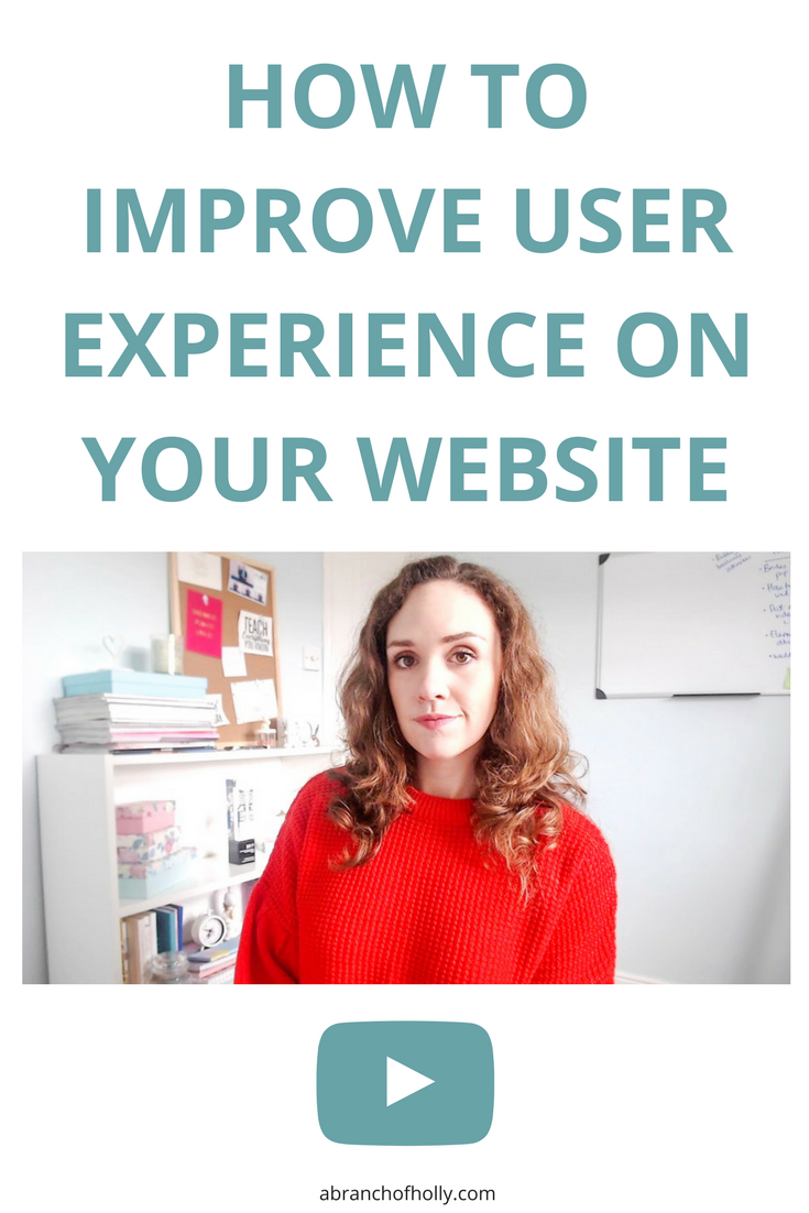 How To Improve User Experience On Your Website by A Branch of Holly - If you want to improve your user experience and be the best blogger ever, do this basic trick in the future.