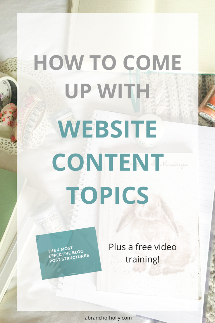 How To Come Up With Amazing Website Content Topics (+ never run out of ideas)