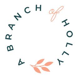 a branch of holly vircular logo