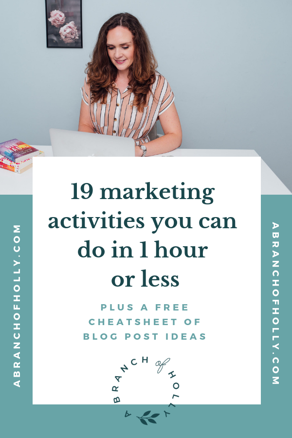 19 marketing activities you can do in 1 hour or less