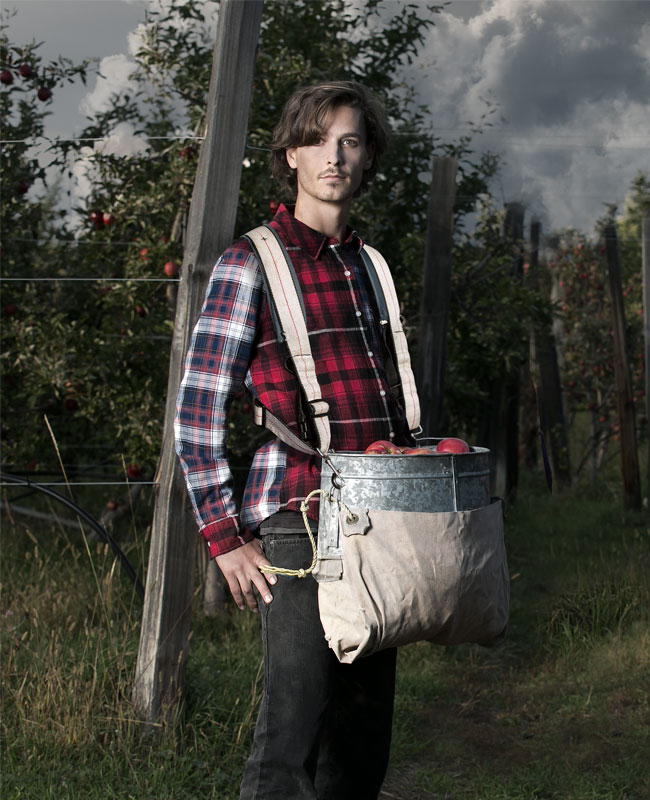 Chris W. - apple picker with Vollo Orchard