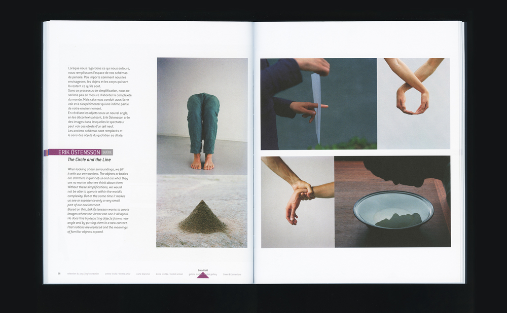 My spread from festival Circulations catalog