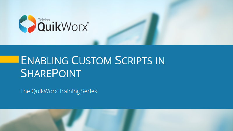 Enabling Custom Scripts in SharePoint
