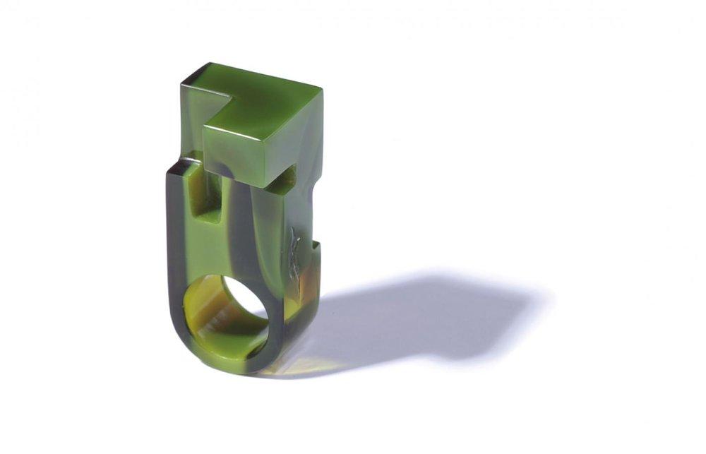 Jewelry, ring by Jorge Yázpik.