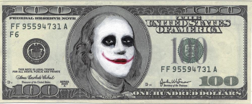 Joker  Mixed Media - 2.5 x 6in - 2011