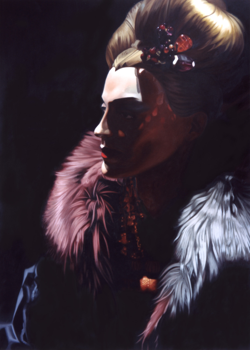 "Esther in "" Fade to Black""  Oil on Canvas  -  50 x 40 in - 2003"