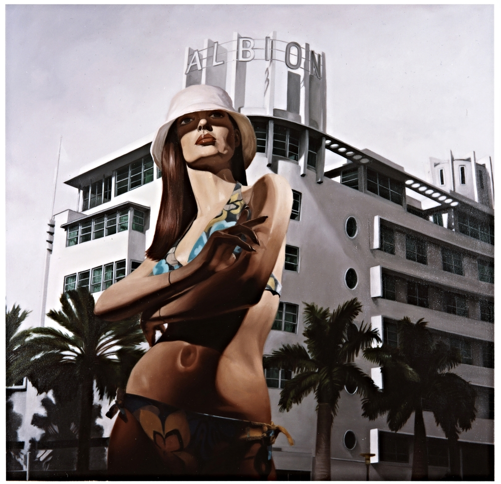 "Margo in "" Miami Vice""  Oil on Canvas - 36 x 36in - 2004"