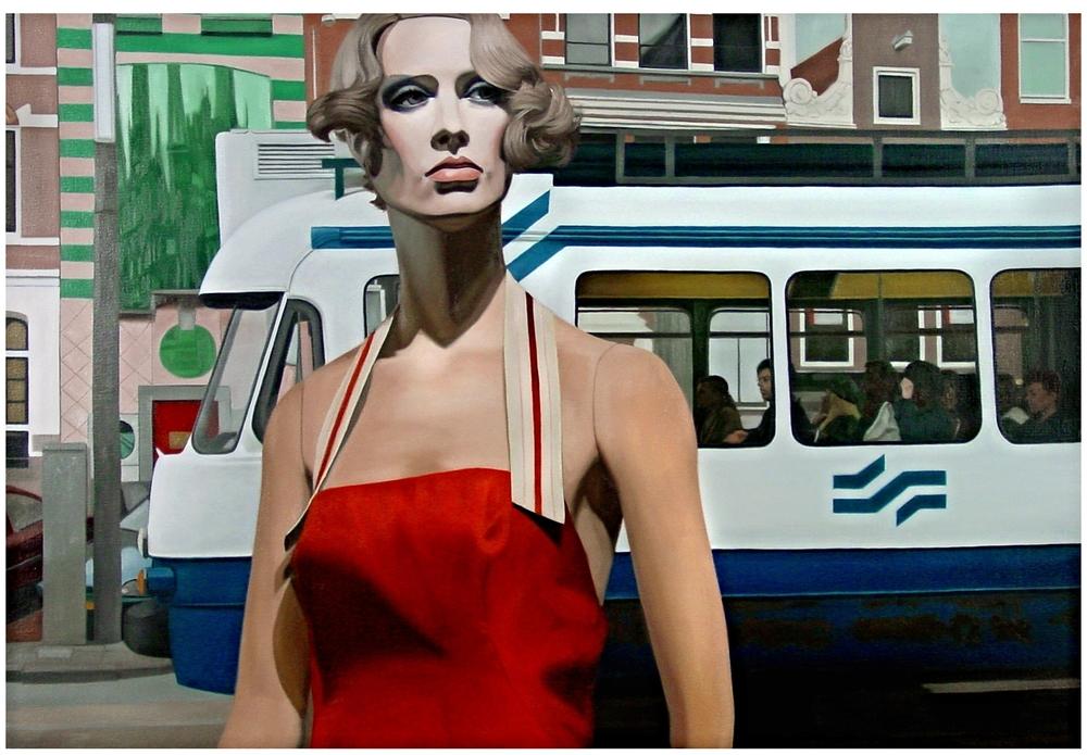 """Josselyn in """" The Mule """"  Oil on Canvas - 30 x 44in - 2005"""