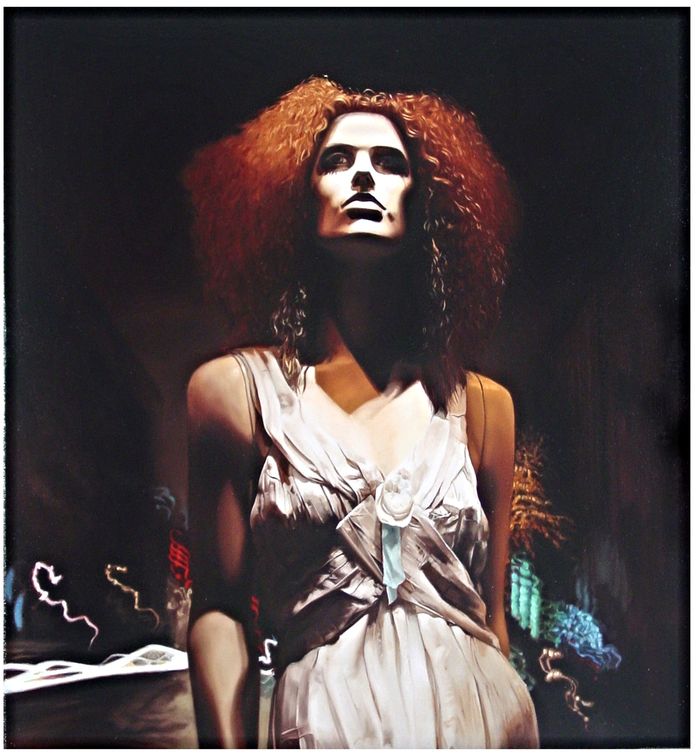 "Grace in "" Vibrations ""  Oil on Canvas - 28 x 26in - 2004"