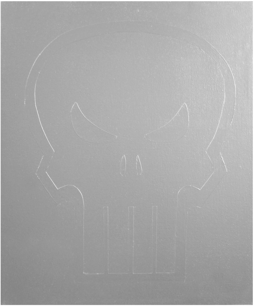 Punisher  Industrial Paint on Canvas - 24 x 20in - 2011