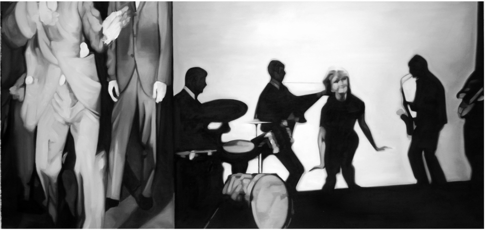 Dance Dance Dance  Oil On Canvas - 25 x 52in - 2007