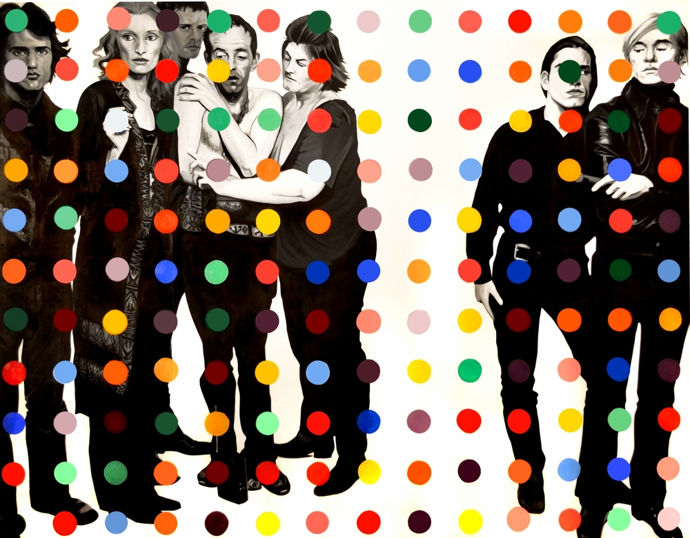 Warhol Factory Dot  Oil on Canvas - 72 x 96in - 2013