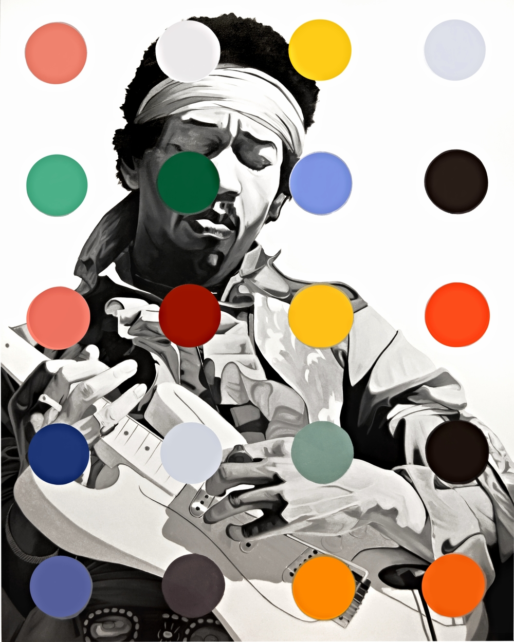 Jimmy Dot  Oil on Canvas - 72 x 57in - 2013