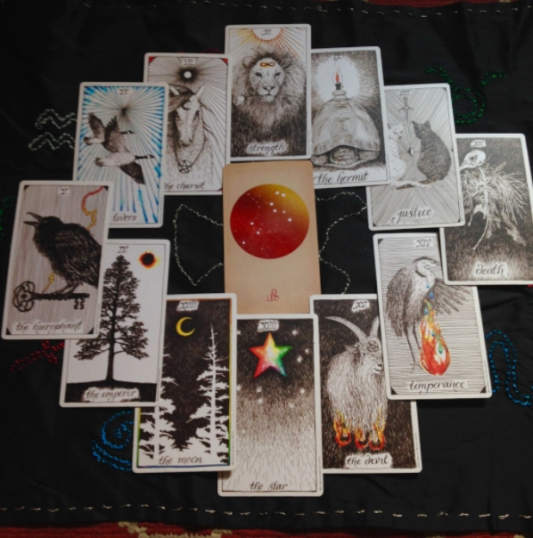 This month's Tarotscope features the Wild Unknown Tarot and the Arcana of Astrology.
