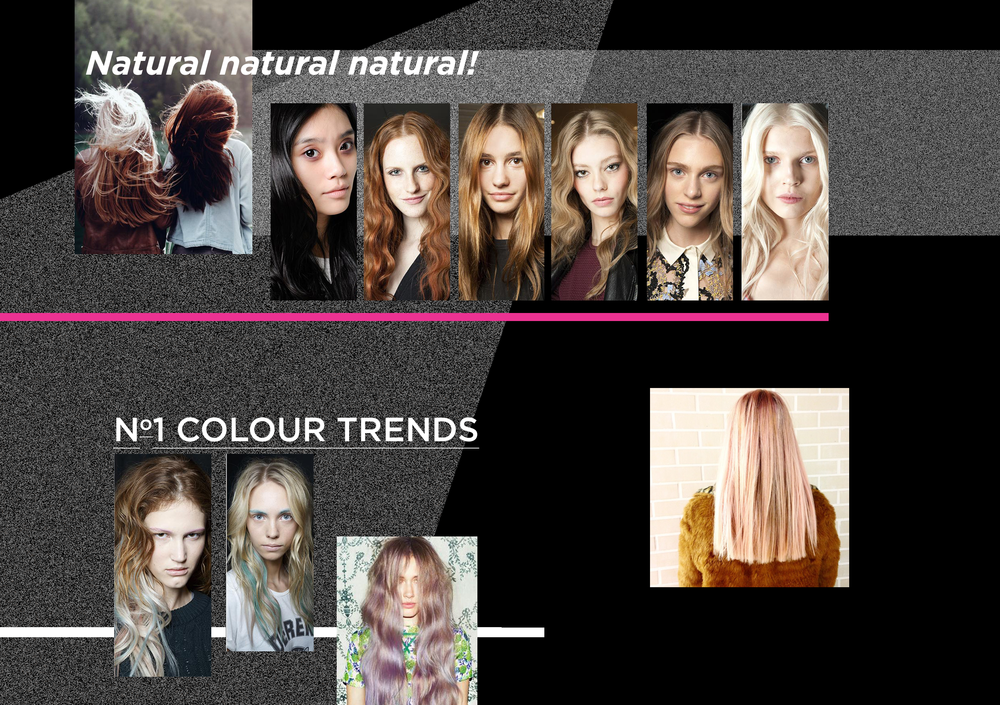 Let natural hair colour shine bright this season! With nods of approval from the shows of Celine, Chanel, Topshop Unique and many more… Although we don't blame Badgley Mischka or Maxine Simoens for wanting to add a dash of grungy colour.