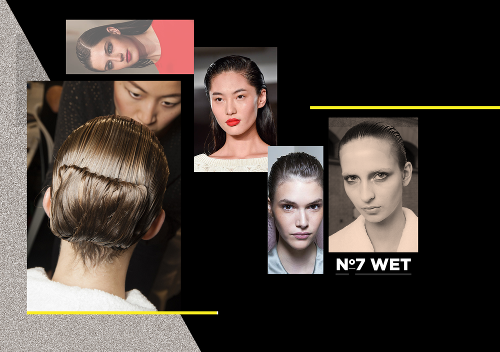 The wet look – super sexy, super smooth. Just comb some gel through for an androgynous and powerful look! Why not try Alexander McQueen's wet, folded chignon bun? Minimalism at its best.
