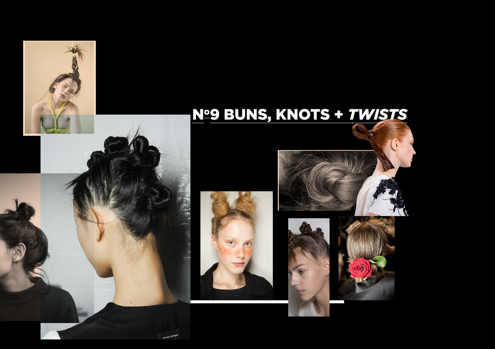 Buns, knots + twists for all you not too serious cutie pies. Phillip Lim, Calvin Klein and Marc by Marc Jacobs all had a play around with this on this seasons catwalk.