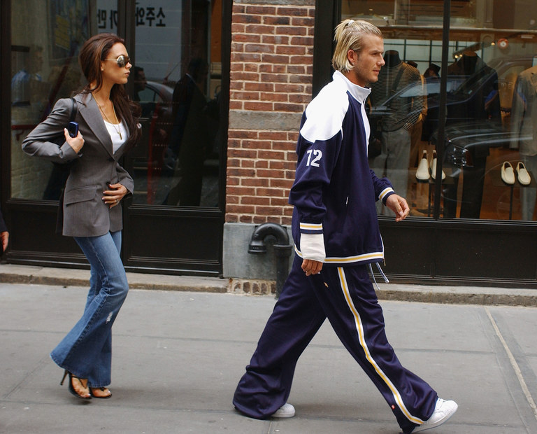 David and Victoria Beckham are photographed in New York, May 2003. Getty Images