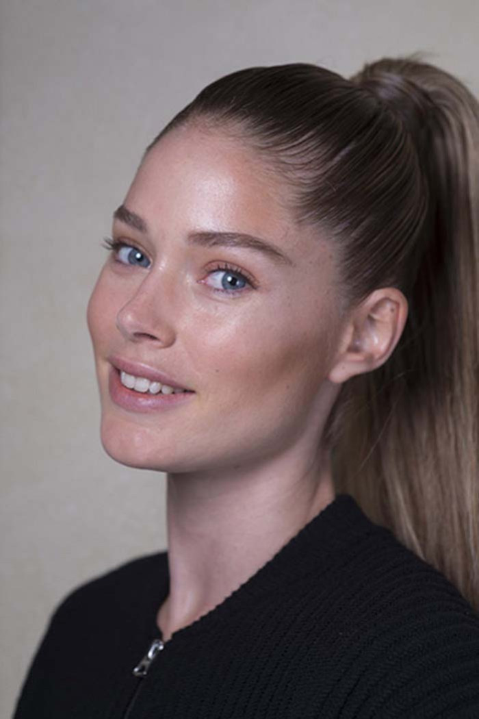 Ah, the power pony. Go for a seriously sleek style this party season with a high ponytail. Doutzen Kroes's at Balmain should be your reference point: polished, tight and poker straight, this is the most fashion way to do an updo.