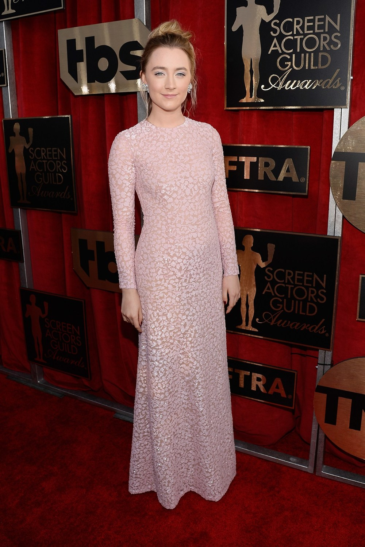 Saoirse Ronan in a Michael Kors dress.