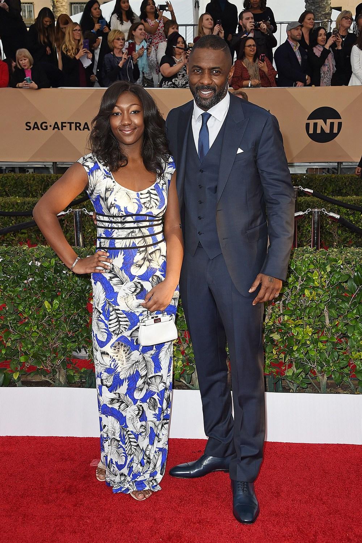 Idris Elba and daughter Isan Elba.