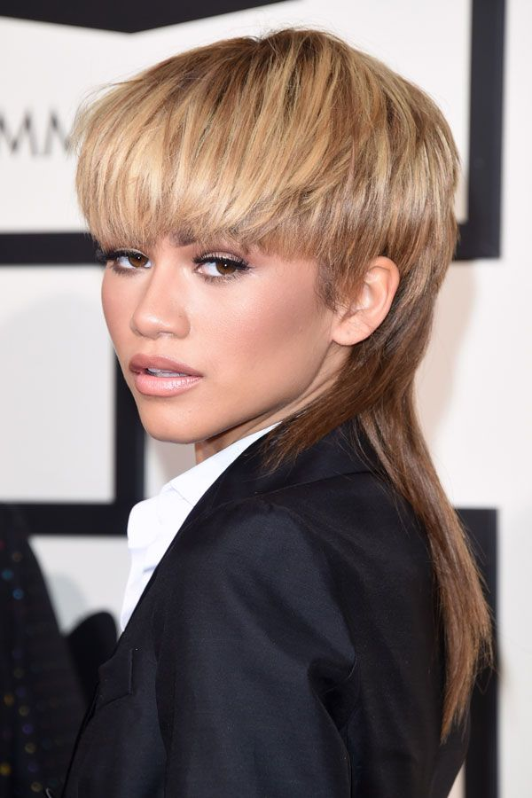 We're not entirely sure about Zendaya's David Bowie tribute hairstyle, but certainly support the homage. As usual however, her makeup is perfection — which, by the way, she did herself.