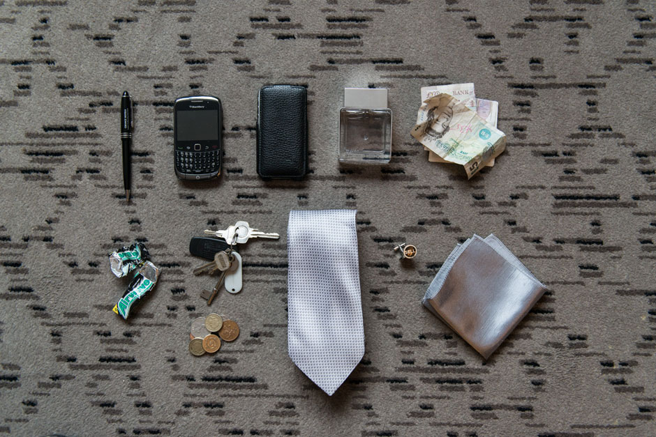 the contents of a grooms pockets