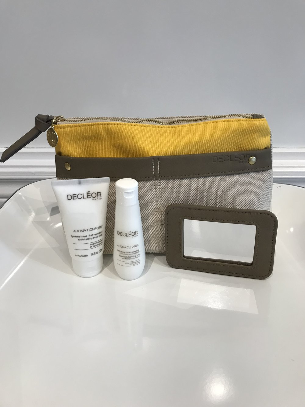 Spend $200 or more and receive this Decleor Travel Product Bag free! (Value $65)