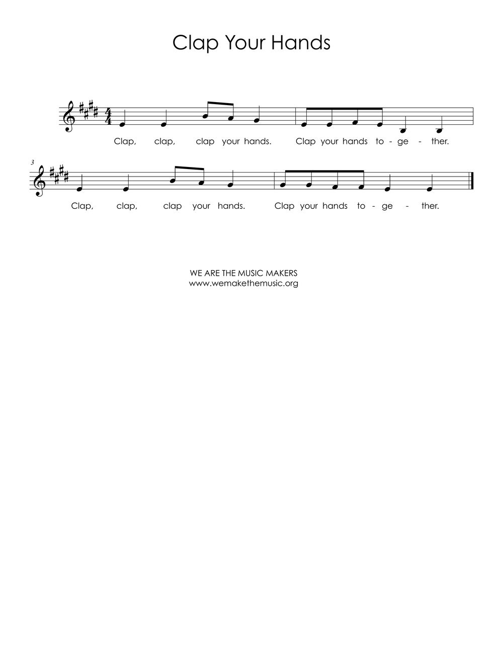 Clap your Hands Sheet Music.jpg