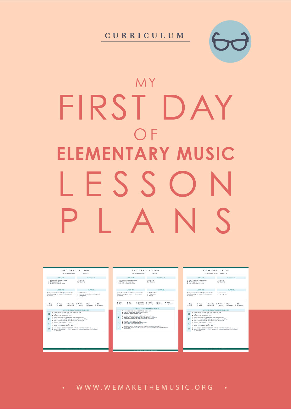 music lesson plans for the first day of school
