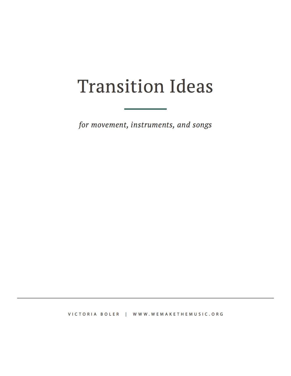 Lesson Transition Ideas