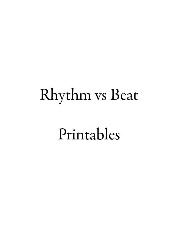 Rhythm vs Beat Printables