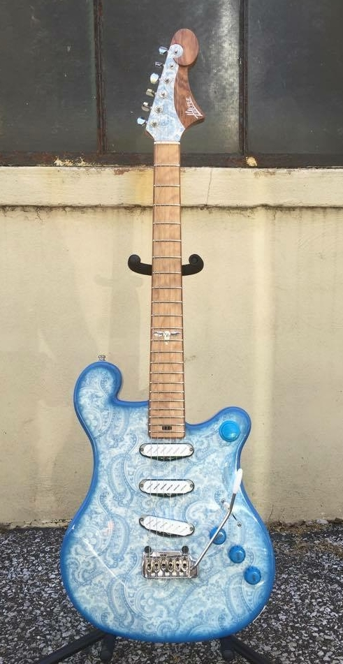 Custom Austin, Jaden Carlson Model with Paisley Burst finish