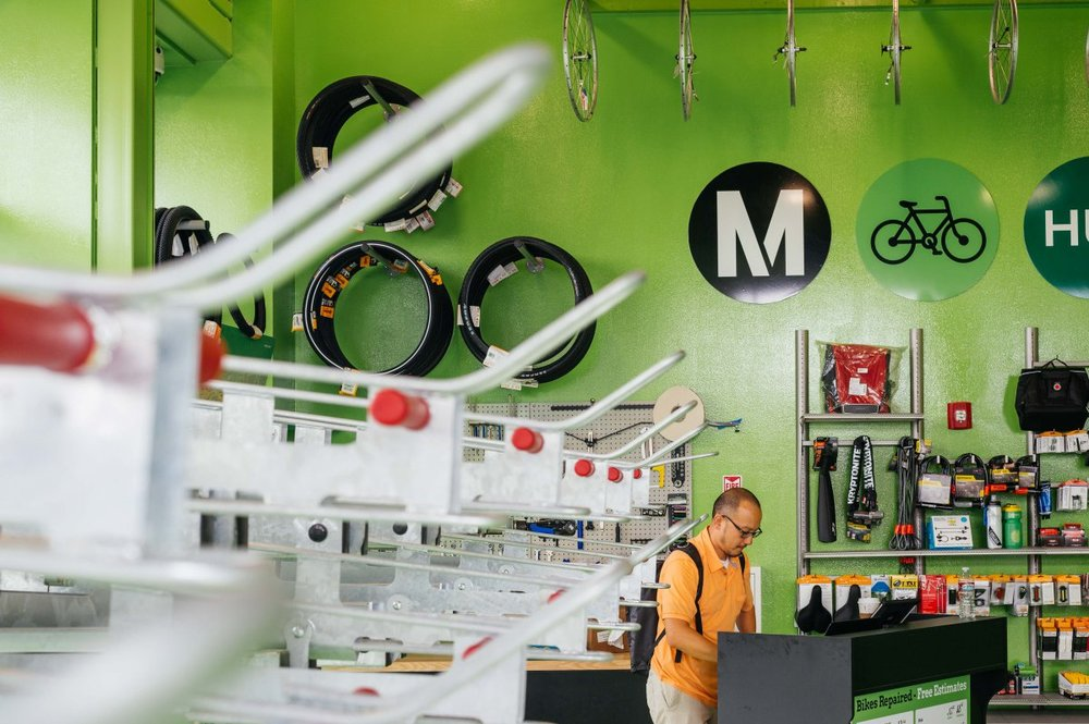 The El Monte Bike Hub will have 24/7 access, 56 bicycle spaces, accessory sales and is stocked with all the tools needed for commuter to do repairs. Photo Credit:  Metro