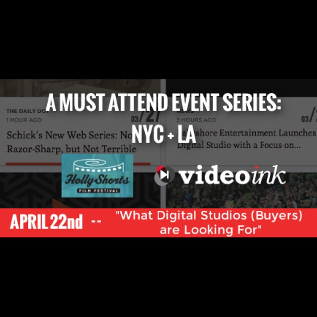 Wondering what Digital Studios are looking for? Don't miss out on @VideoInkNews panel event April 22nd #NY #LA here:  bit.ly/SellYourSeries