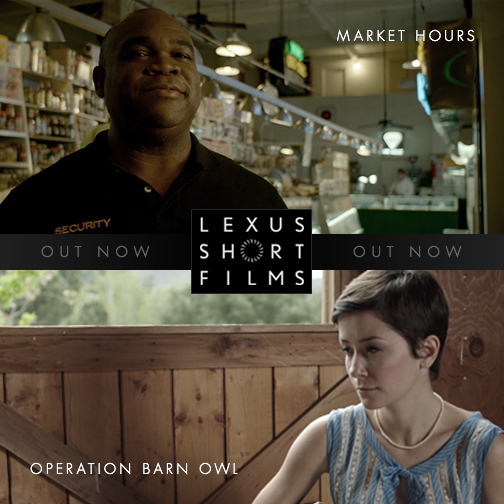 Help support directors Jon Goldman and Satsuki Okawa at a chance of winning a first look deal from @The Weinstein Company! Watch #OperationBarnOwl and #MarketHours on the @Lexus Short Film Facebook page and vote for your favorite here: http://bit.ly/LexusShortFilmsVOTE
