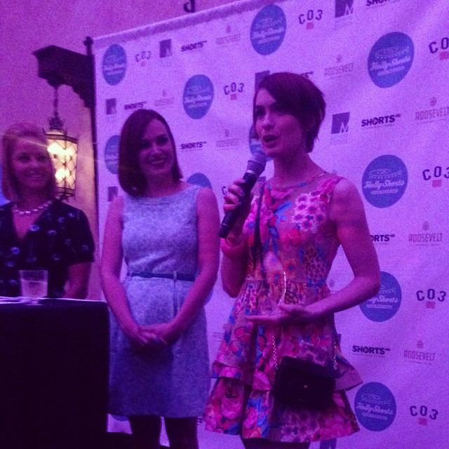 It started out with one camera in my garage - Felicia Day accepting the Digital Icon Award #hsff14 #Awards