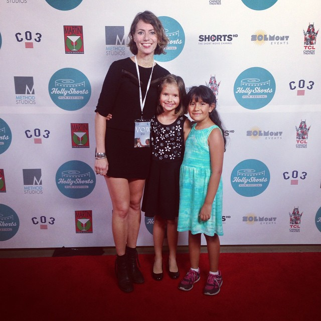 Lina Roessler and stars of the film 'The Vow: Little Whispers' Allyssa Bainbridge and Kayla Simmons