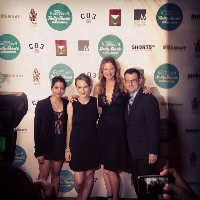 Anya Leta and her crew on the red carpet for Points of Origin #hsff2014
