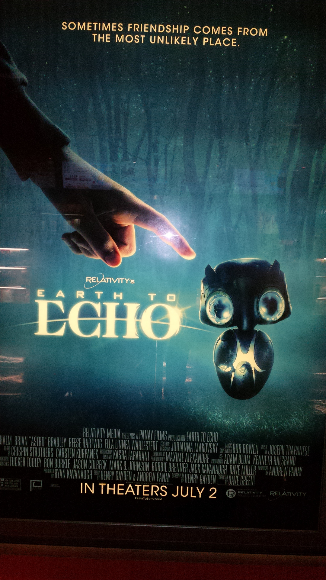 Check out this out of this world friend Directed by Dave Green 'Earth to Echo' hitting theaters this Wednesday!  callhimecho.com