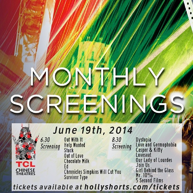 #hsmonthlyscreenings june 19 @brookelenzi @colourbleed @5sf @jonryanisdead @chinesetheatres get your tickets now! Hollyshorts.com/tickets After party @roosevelt