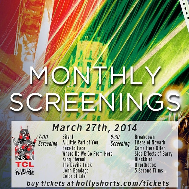 #hollyshorts #monthlyscreening march 27 #nyfa @chinesetheatres #studentfilms #shorts @_theodumont