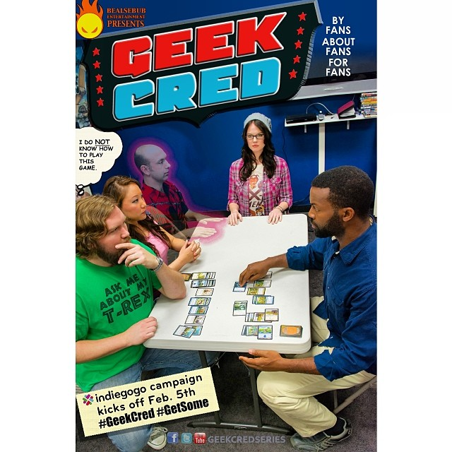 grammernatzee :     The final #promo poster for @geekcredseries' @indiegogo launch. #jla #comics #crowdfunding #comedy #indiegogo #geekcred #getsome