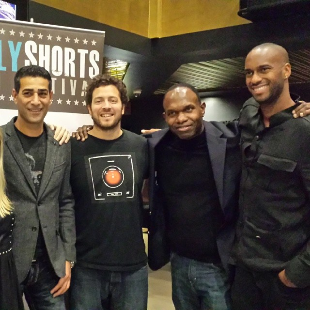 @HollyShorts monthly screening with andre wiggins and @theodumont