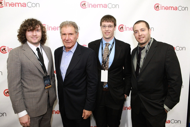 Check out our very own Daniel Sol(far right) with Harrison Ford and Ryan Leeder(next to Daniel).  At Cinema Con this year!  Way to go!