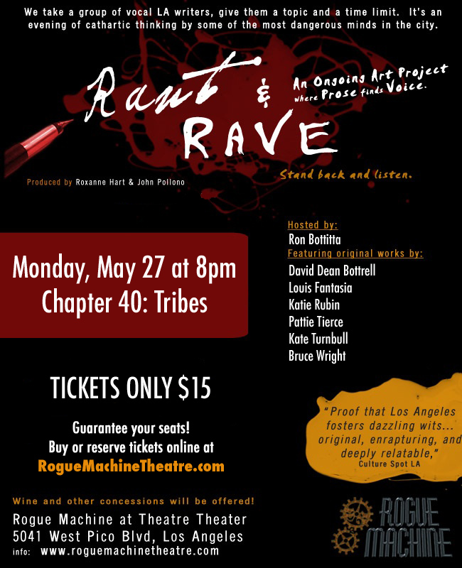 If you're in LA- you should check this out on May 27th at 8pm.