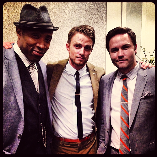 sundaystorms: @.ScottPorter #hartofdixie season 3 here we go…the fellas… http://instagram.com/p/ZYLk-TvqGv/  @hollyshorts Friend @.ScottPorter! Looking good guys!