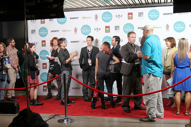 Filmmakers on the carpet during the festival.jpg