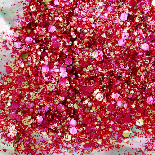 coral biodegradable glitter